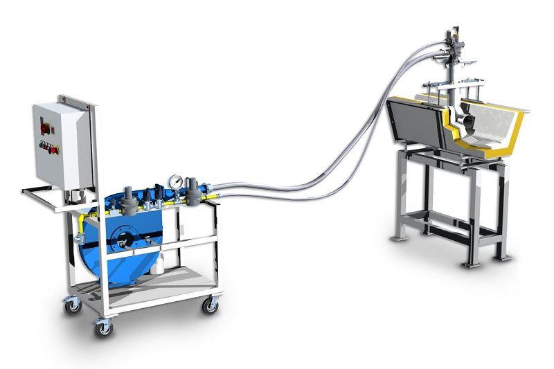 casting-launder-pre-heater-mobile